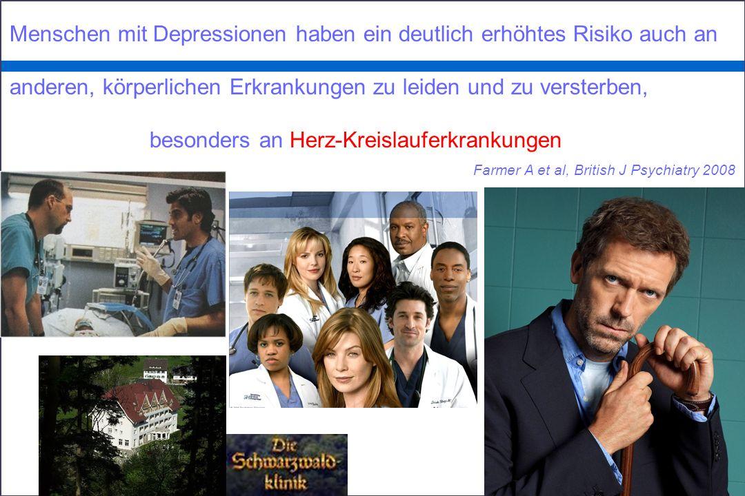Menschen mit Depressionen haben ein deutlich erhöhtes Risiko auch an