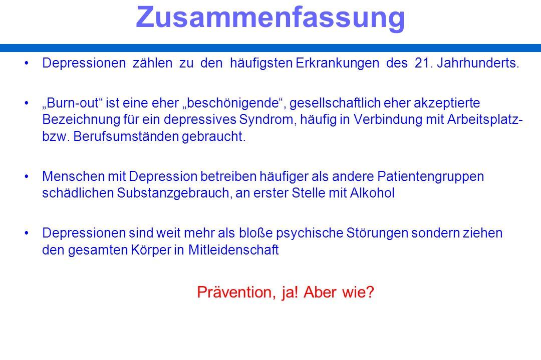 Depressionen zählen zu den häufigsten Erkrankungen des 21. Jahrhunderts.