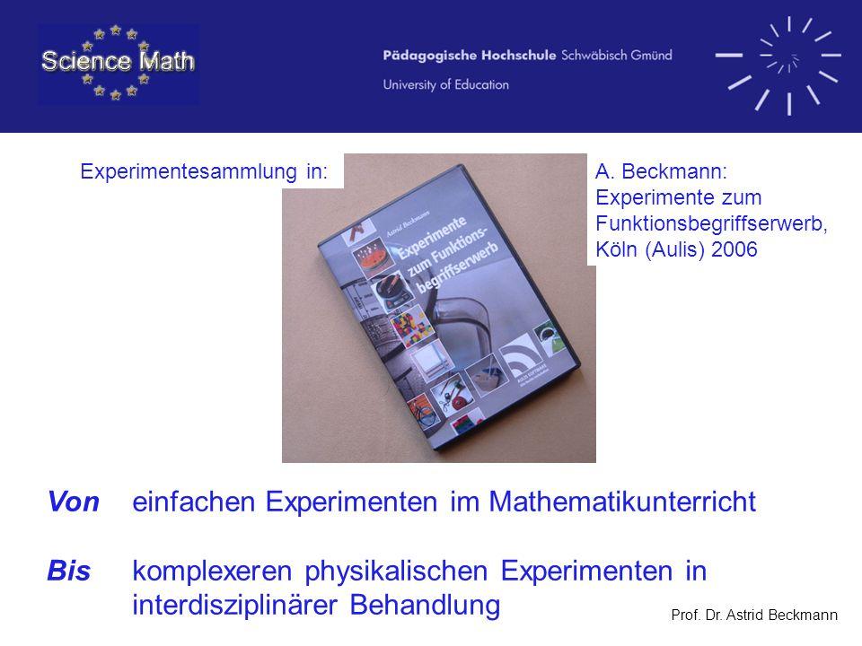 Von einfachen Experimenten im Mathematikunterricht