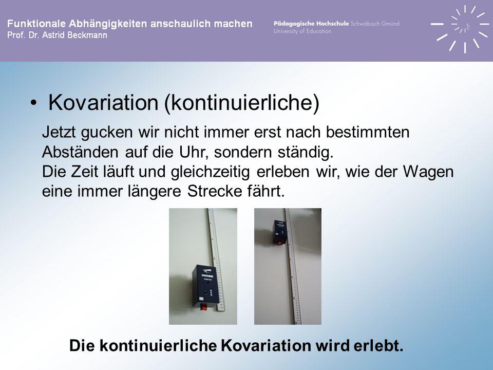 Kovariation (kontinuierliche)