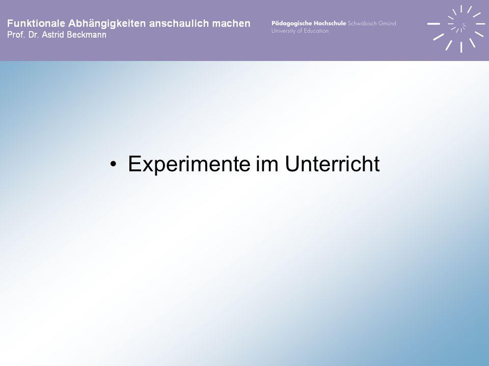 Experimente im Unterricht