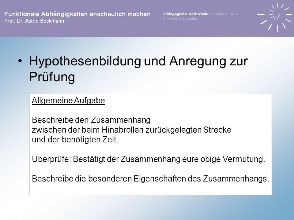 Hypothesenbildung und Anregung zur Prüfung