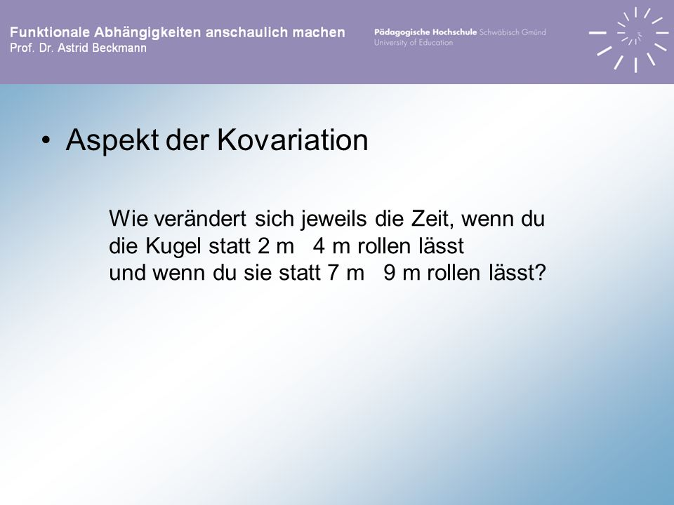 Aspekt der Kovariation