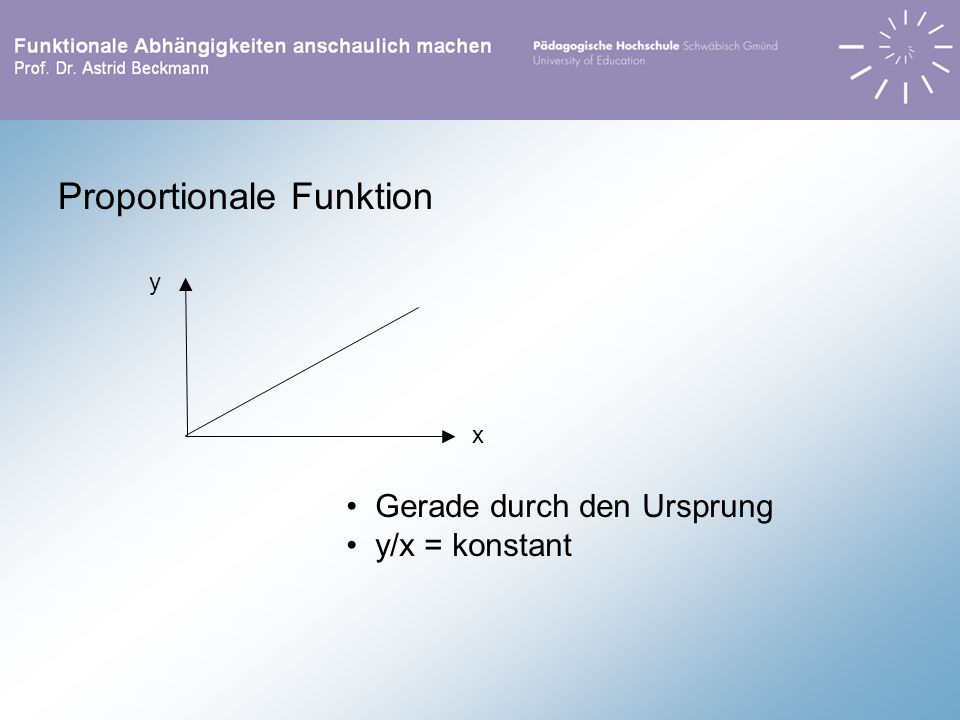 Proportionale Funktion