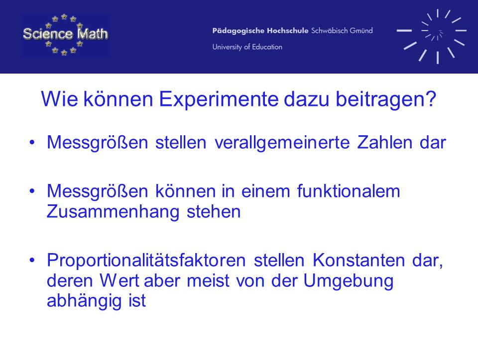 Wie können Experimente dazu beitragen