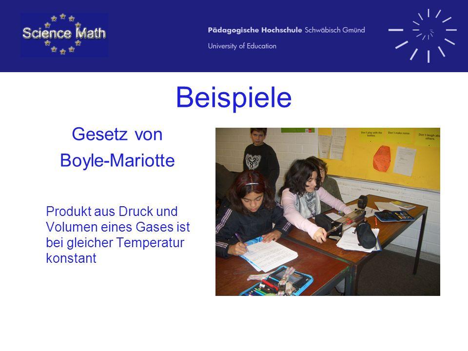 Beispiele Gesetz von Boyle-Mariotte