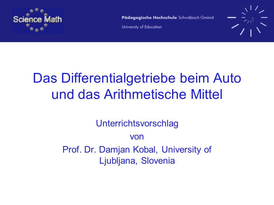 Das Differentialgetriebe beim Auto und das Arithmetische Mittel