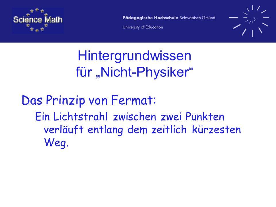 """Hintergrundwissen für """"Nicht-Physiker"""
