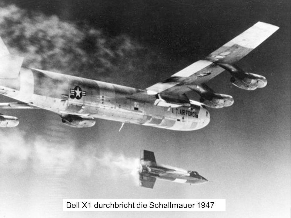 Bell X1 durchbricht die Schallmauer 1947