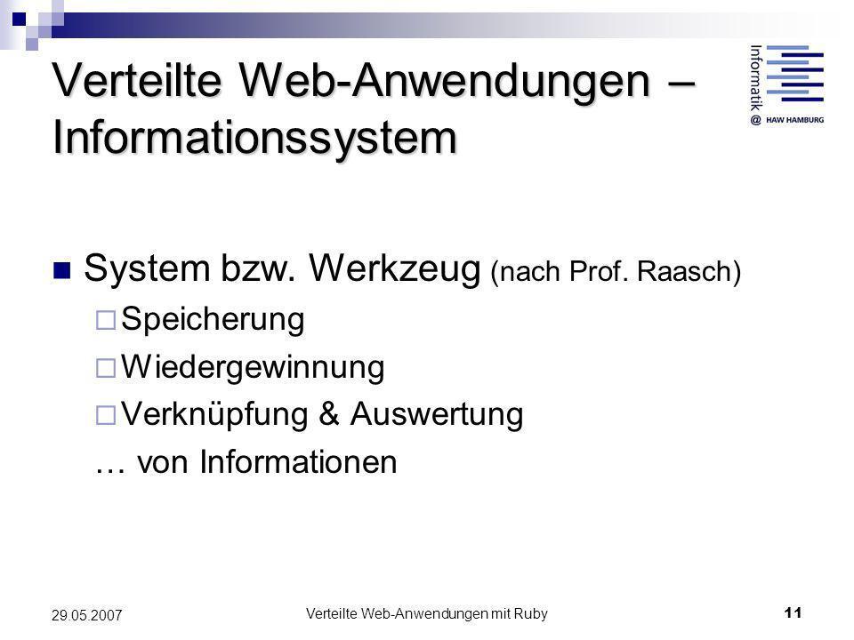 Verteilte Web-Anwendungen – Informationssystem