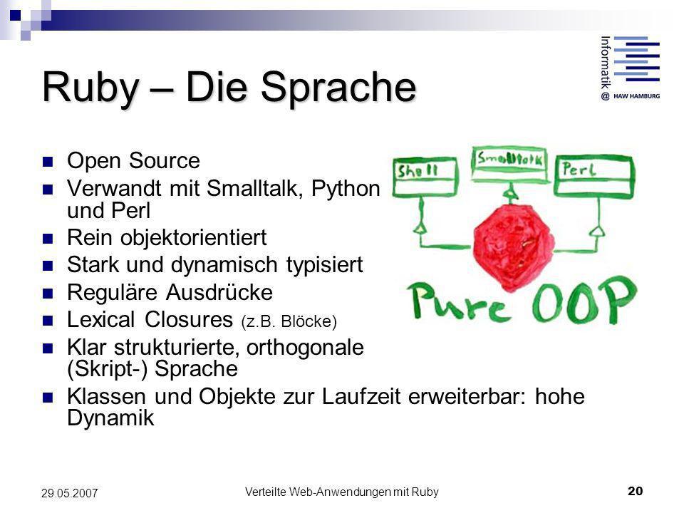 Verteilte Web-Anwendungen mit Ruby