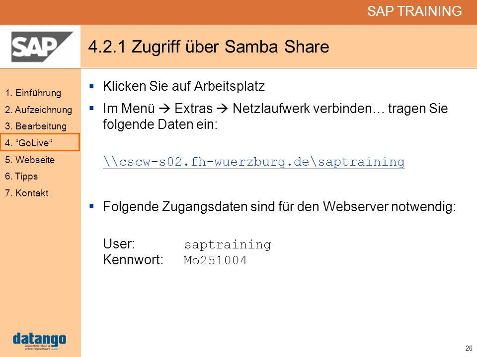 4.2.1 Zugriff über Samba Share