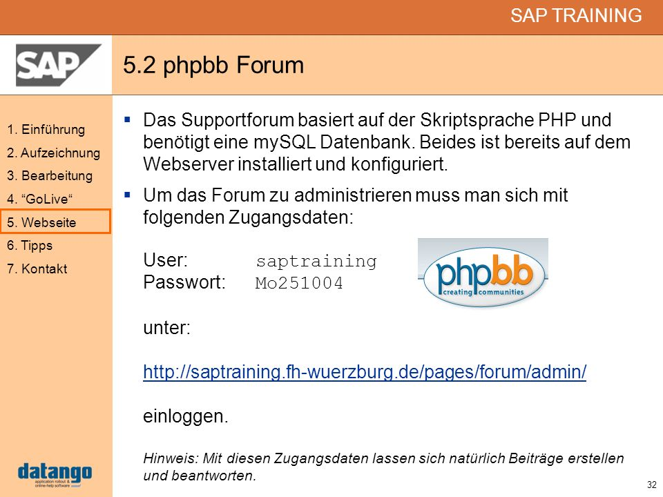 5.2 phpbb Forum