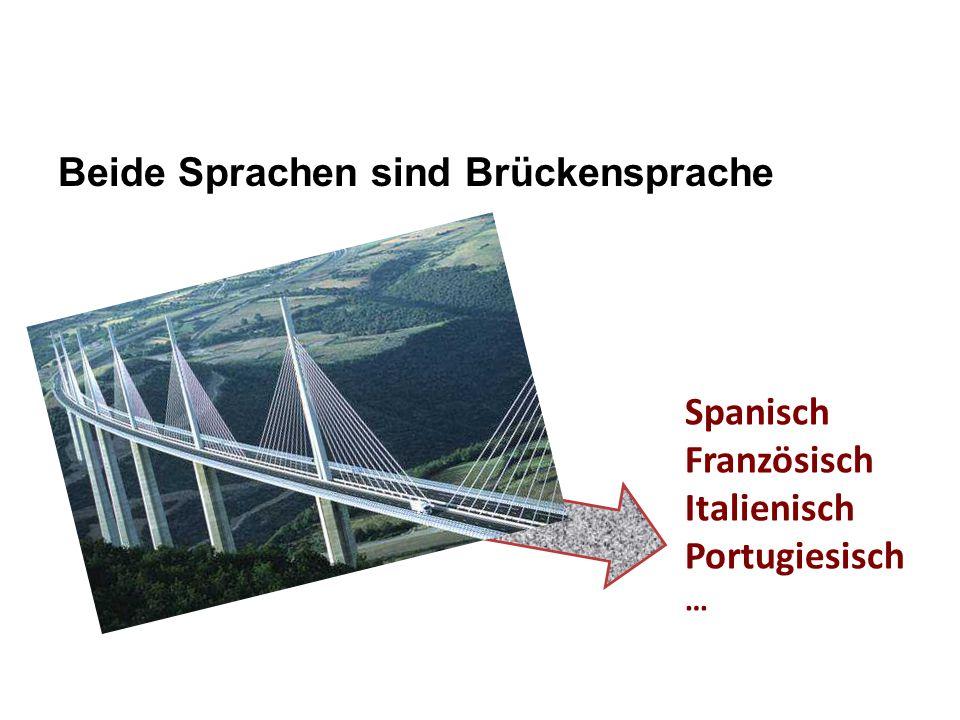 Beide Sprachen sind Brückensprache