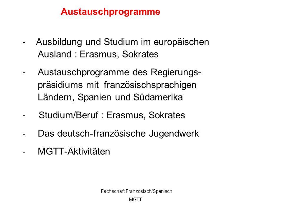 - Ausbildung und Studium im europäischen Ausland : Erasmus, Sokrates
