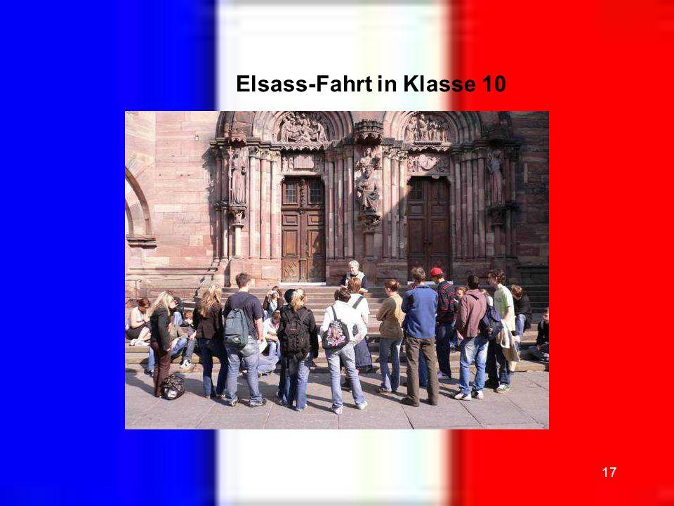 Elsass-Fahrt in Klasse 10