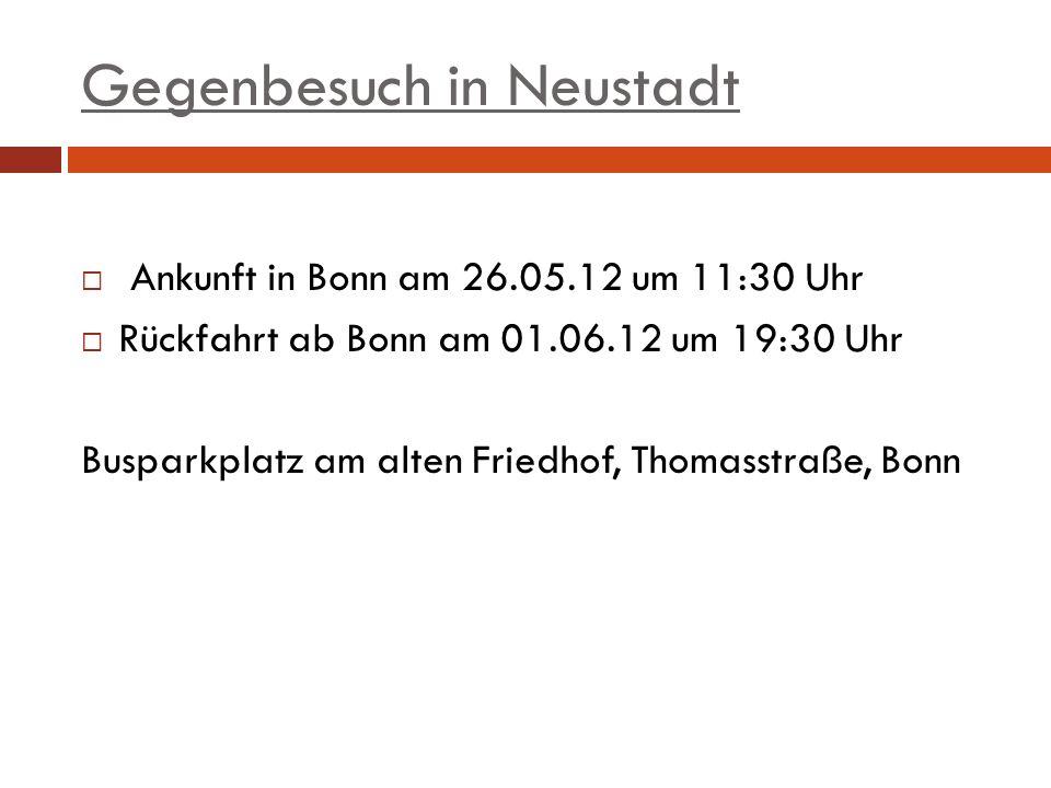 Gegenbesuch in Neustadt