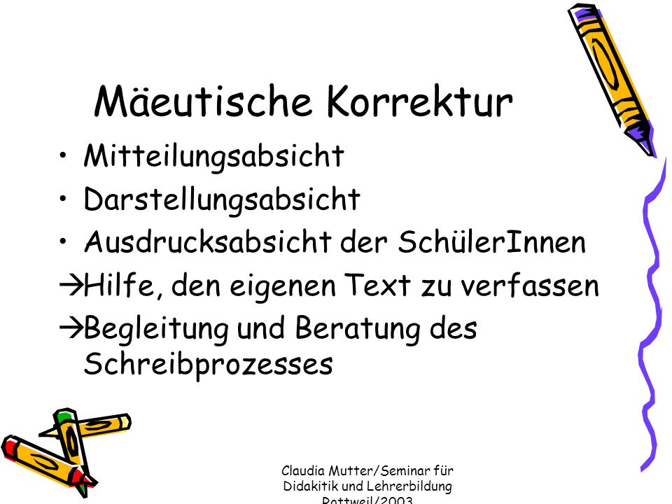 Claudia Mutter/Seminar für Didakitik und Lehrerbildung Rottweil/2003