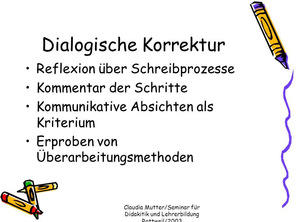 Dialogische Korrektur
