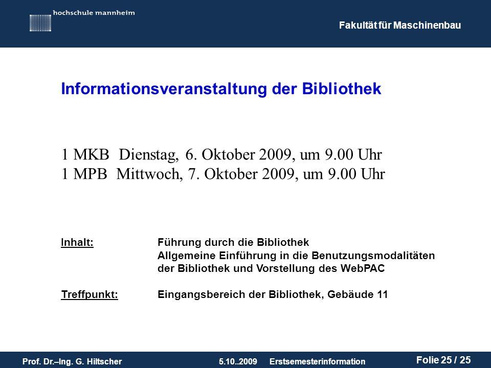 Informationsveranstaltung der Bibliothek