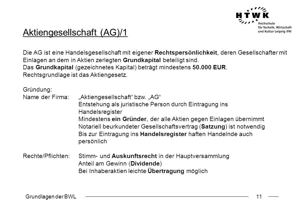 Aktiengesellschaft (AG)/1