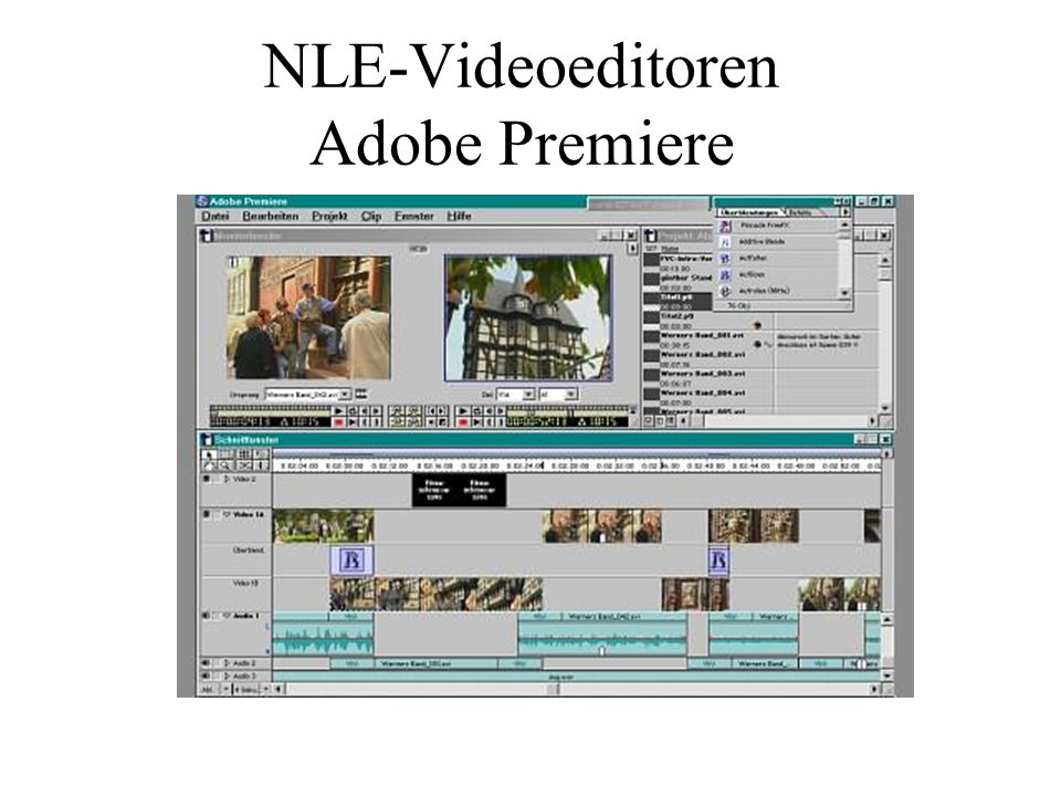 NLE-Videoeditoren Adobe Premiere