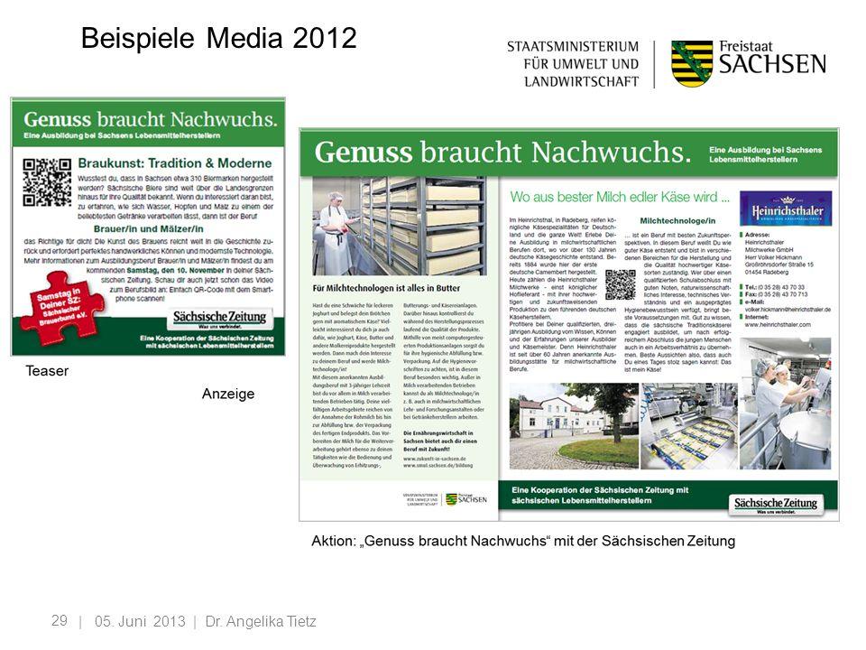 Beispiele Media 2012 | 05. Juni 2013 | Dr. Angelika Tietz