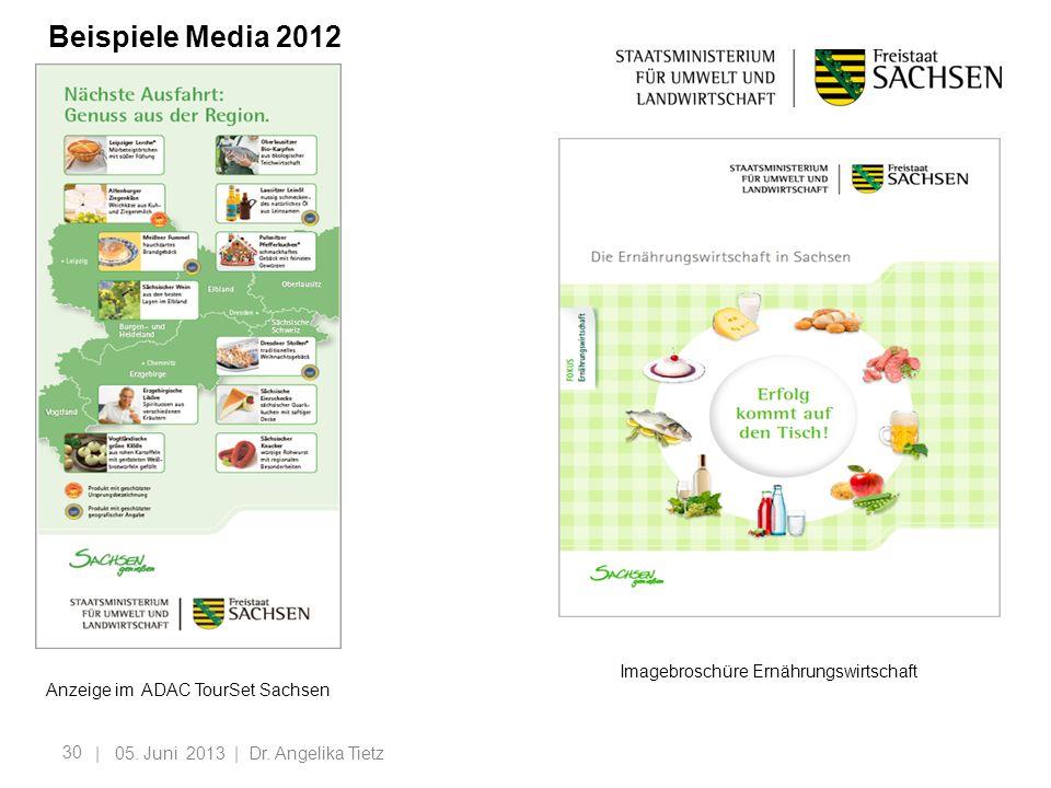 Beispiele Media 2012 Imagebroschüre Ernährungswirtschaft