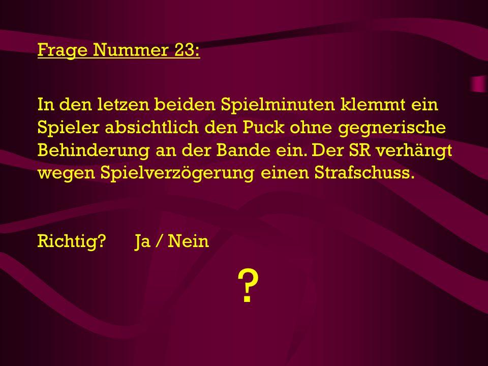Frage Nummer 23: