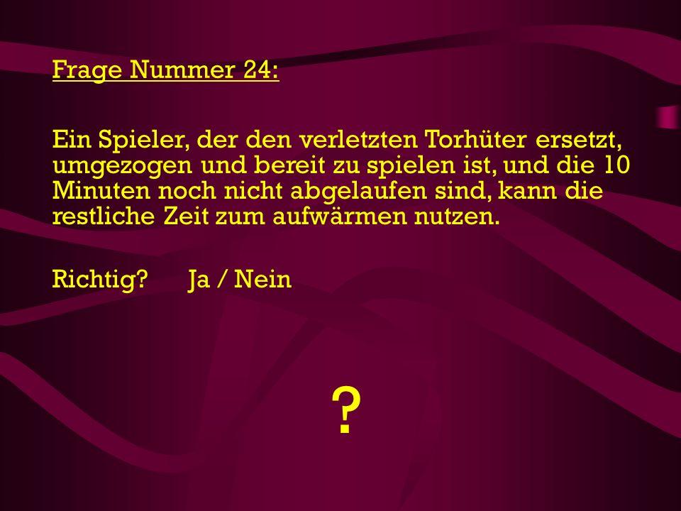 Frage Nummer 24: