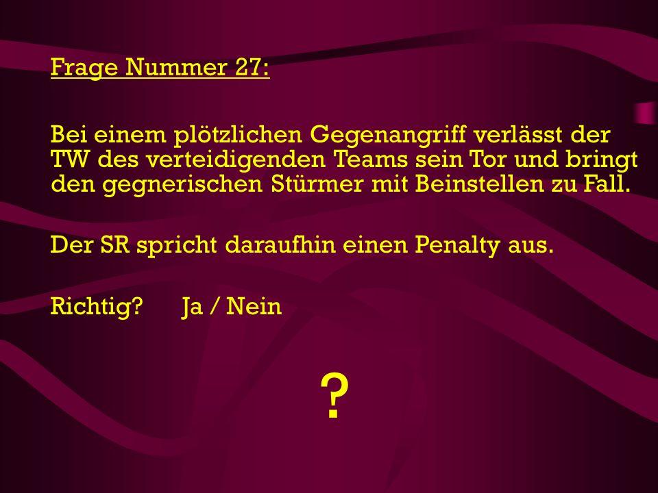 Frage Nummer 27: