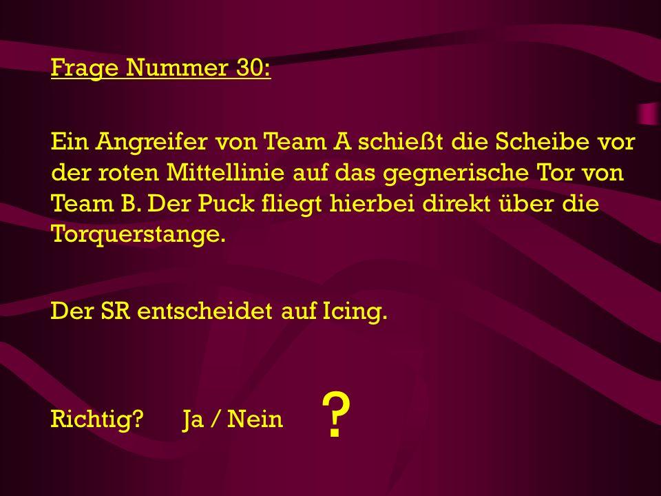 Frage Nummer 30:
