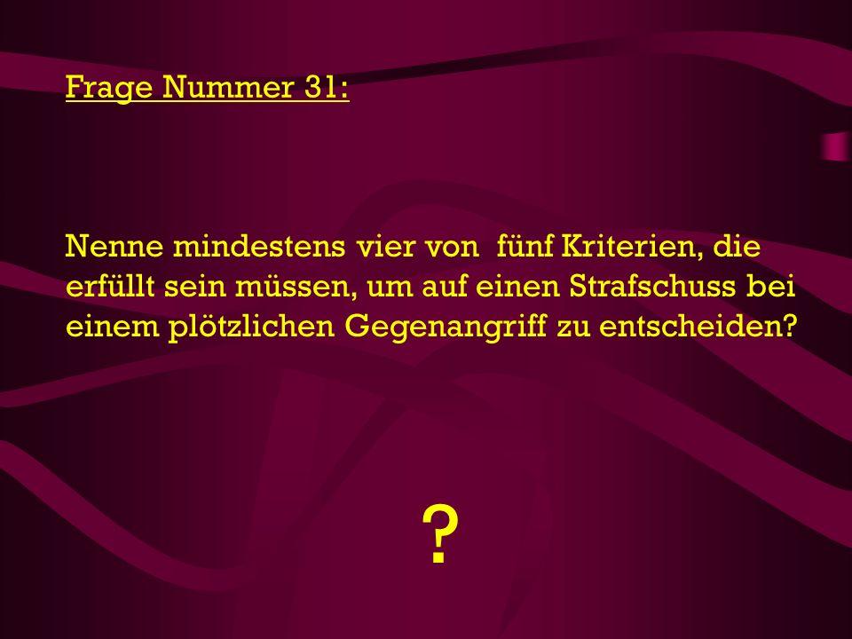 Frage Nummer 31: