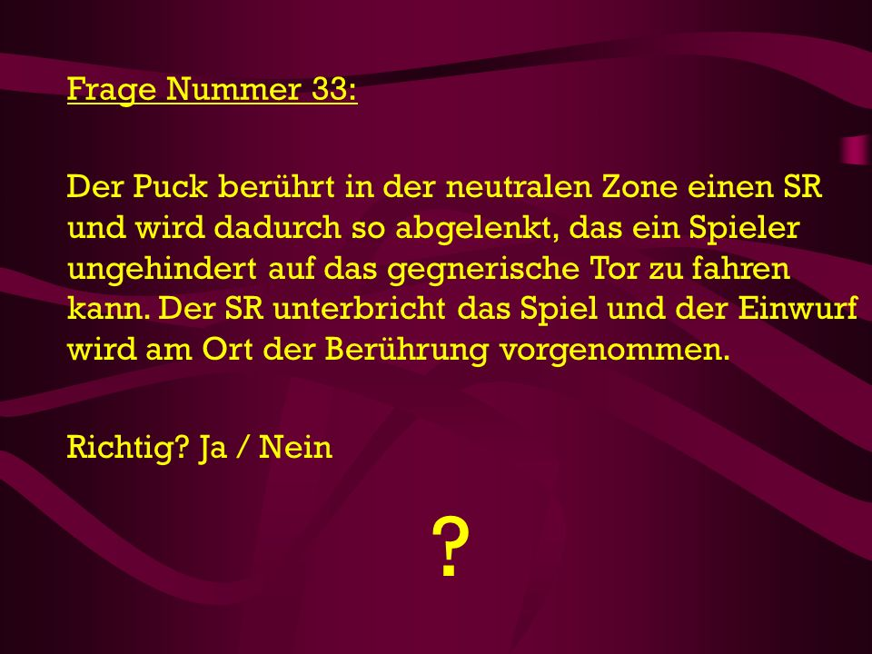 Frage Nummer 33: