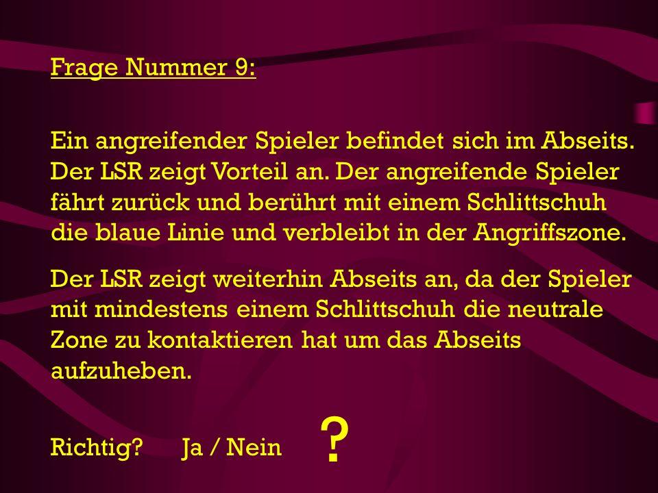 Frage Nummer 9: