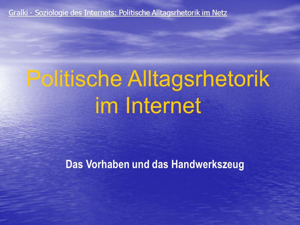 Politische Alltagsrhetorik im Internet