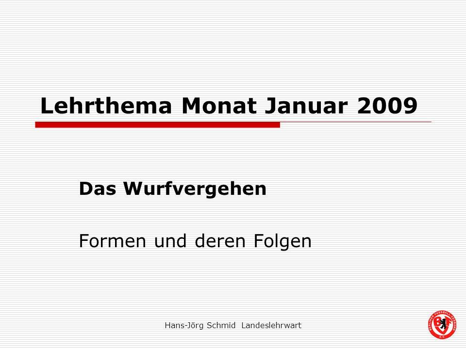 Lehrthema Monat Januar 2009