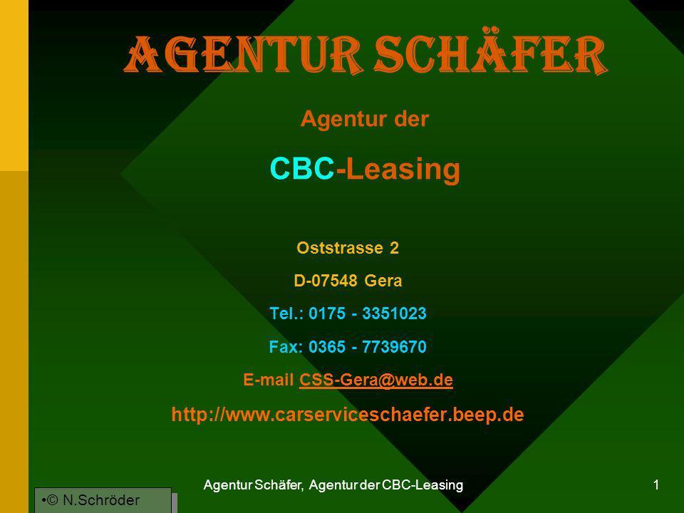 Agentur Schäfer Agentur der CBC-Leasing