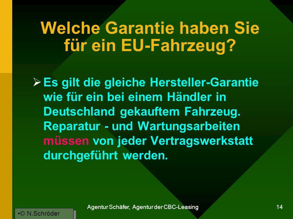 Welche Garantie haben Sie für ein EU-Fahrzeug