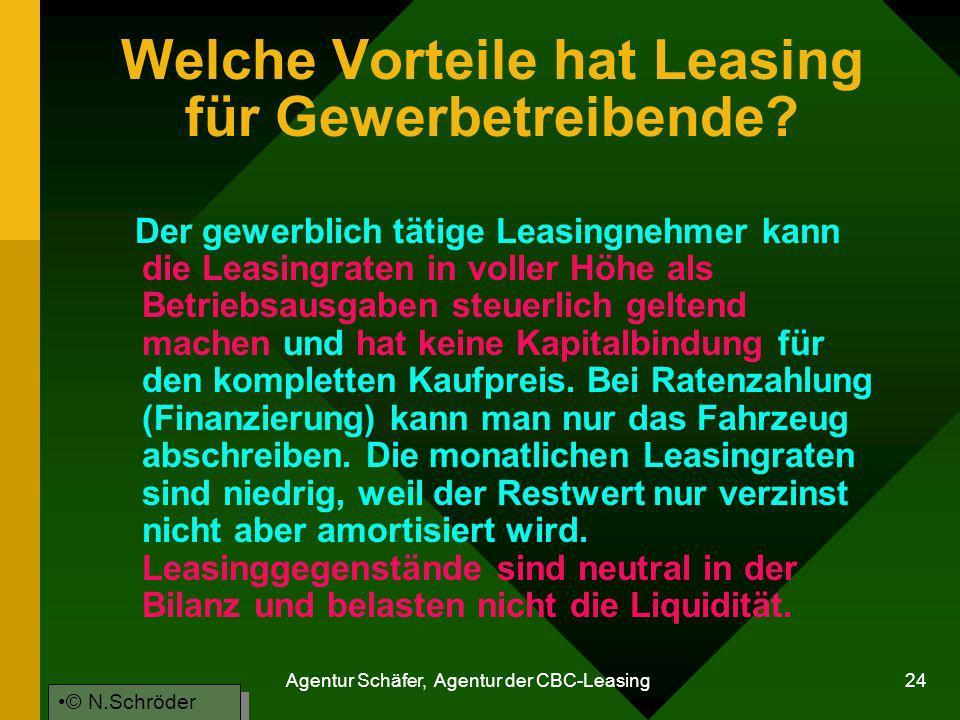 Welche Vorteile hat Leasing für Gewerbetreibende