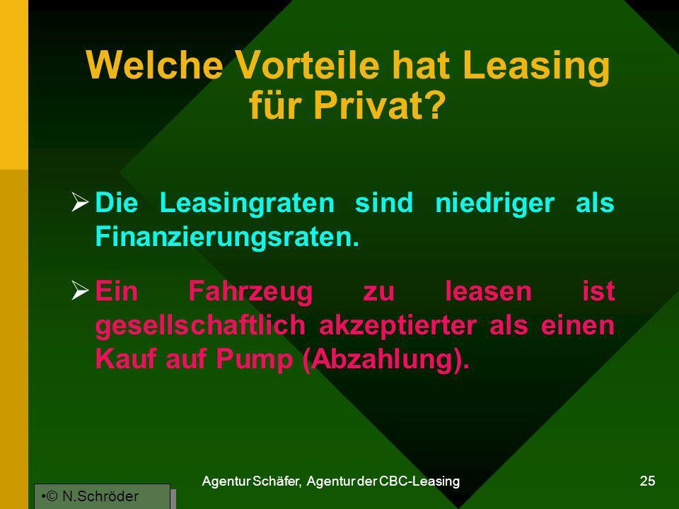 Welche Vorteile hat Leasing für Privat