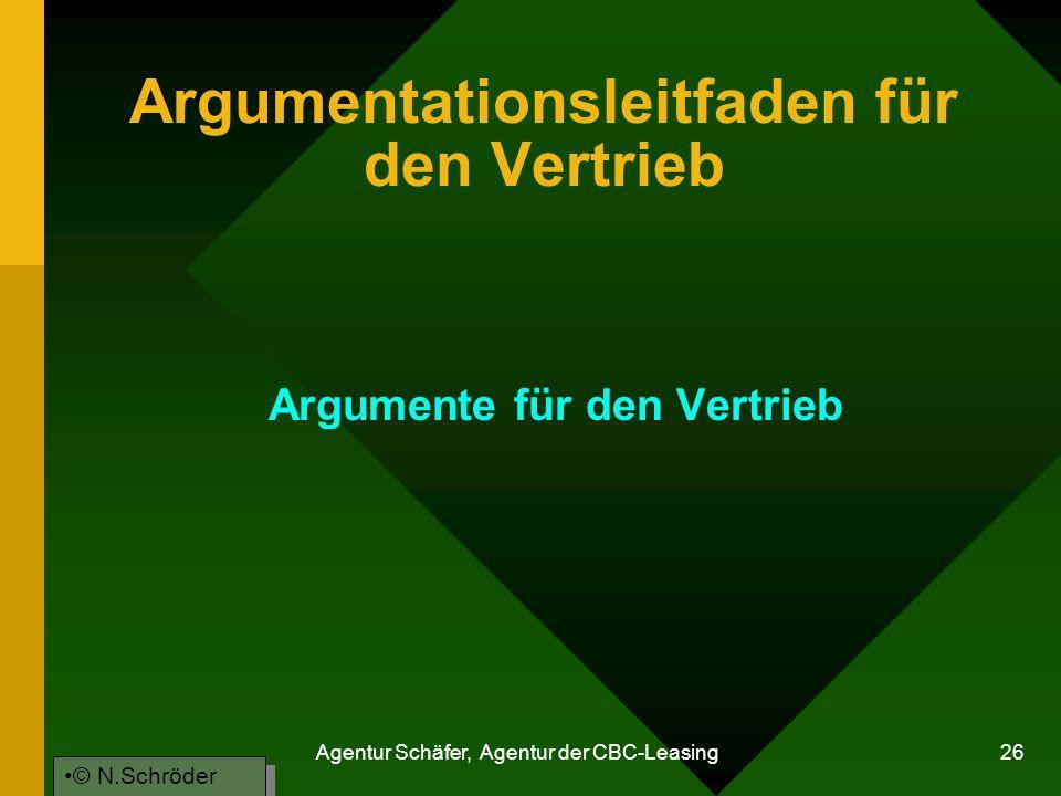 Argumentationsleitfaden für den Vertrieb