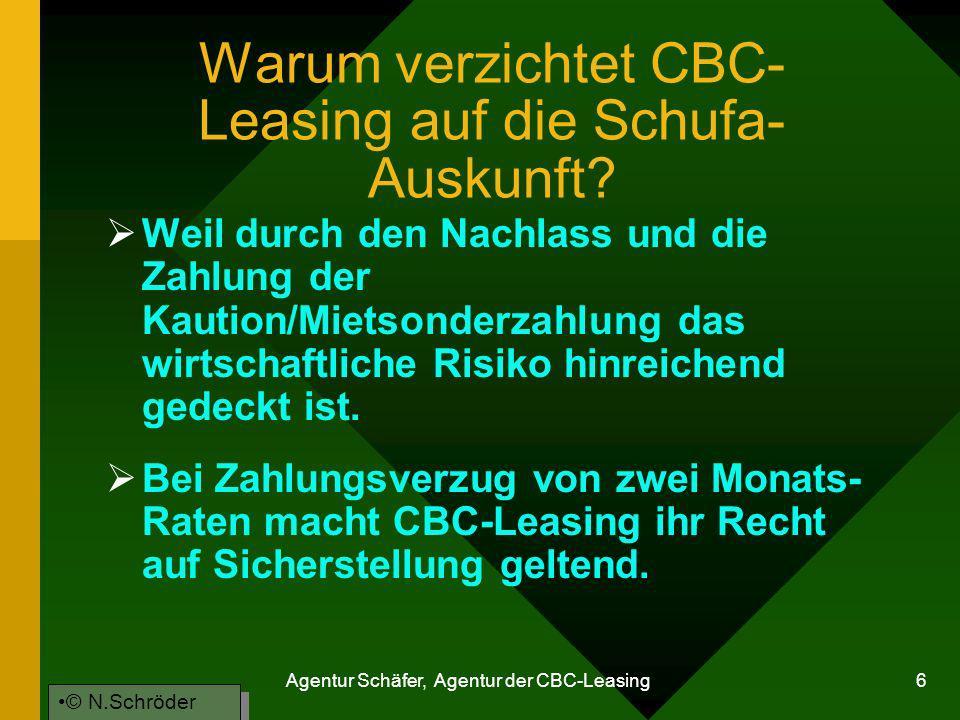 Warum verzichtet CBC-Leasing auf die Schufa-Auskunft