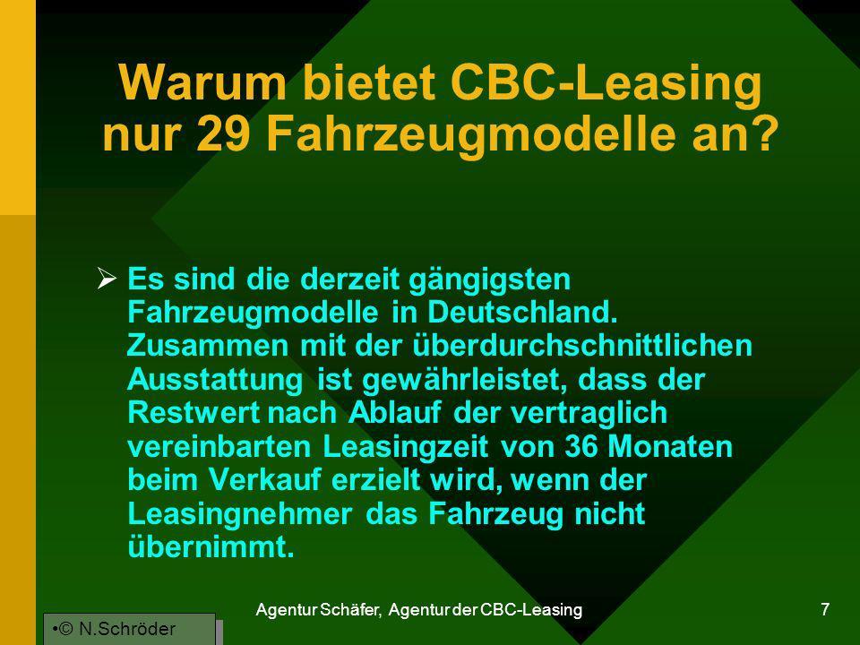 Warum bietet CBC-Leasing nur 29 Fahrzeugmodelle an