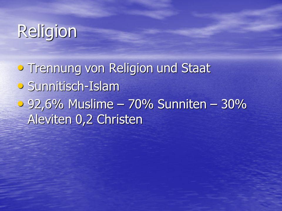 Religion Trennung von Religion und Staat Sunnitisch-Islam