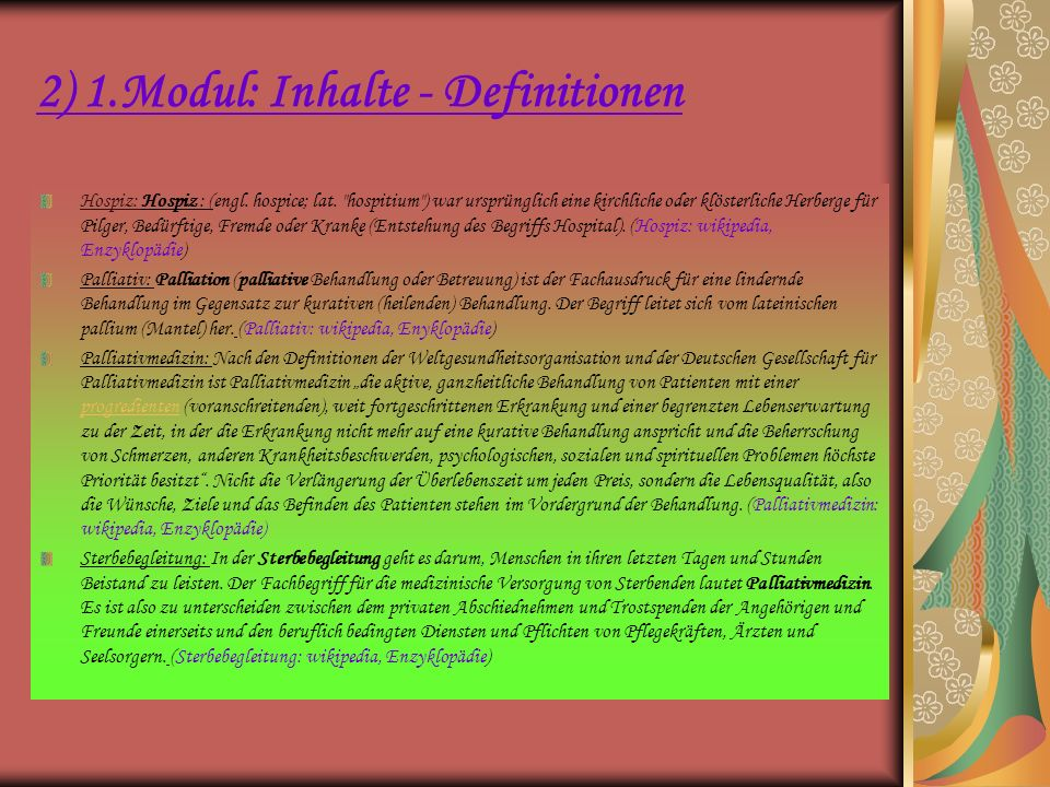 2) 1.Modul: Inhalte - Definitionen