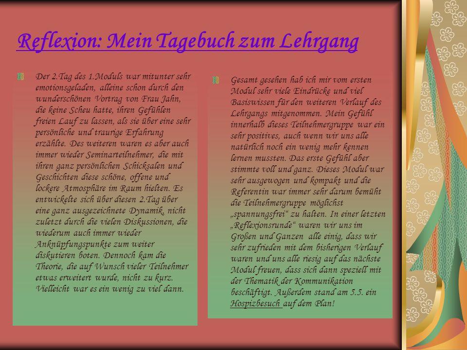 Reflexion: Mein Tagebuch zum Lehrgang