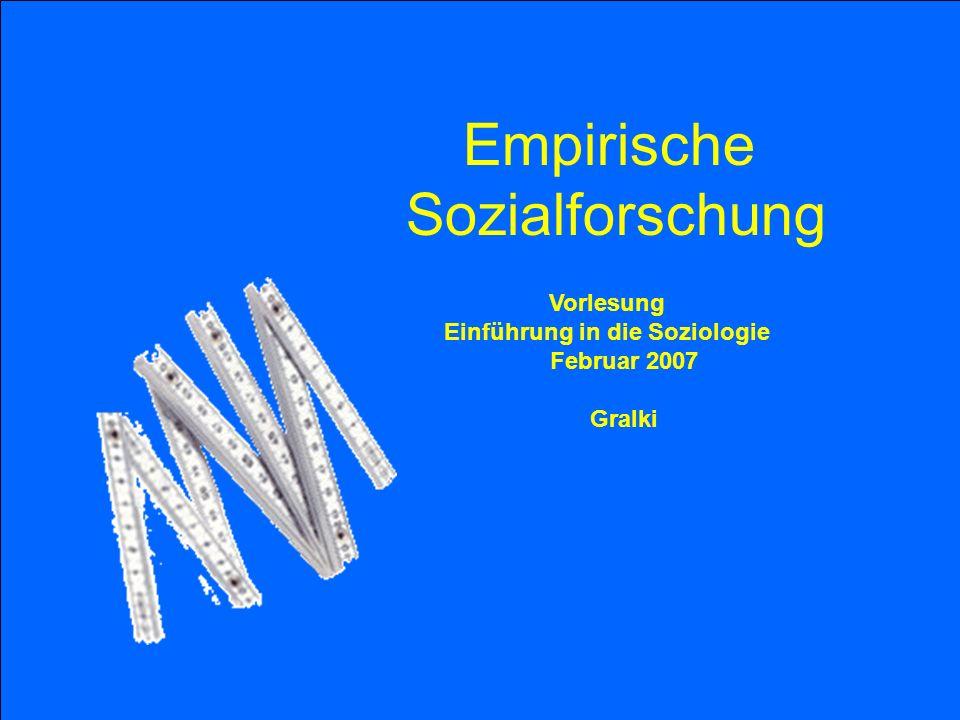Einführung in die Soziologie Februar 2007
