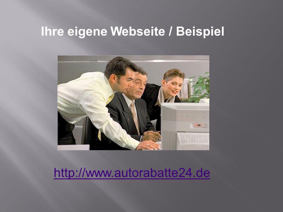 Ihre eigene Webseite / Beispiel
