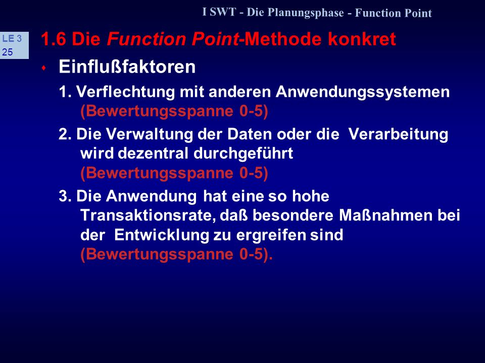 1.6 Die Function Point-Methode konkret